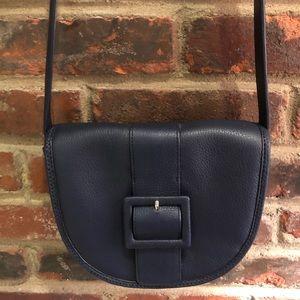 Talbots Navy Leather Crossbody Purse